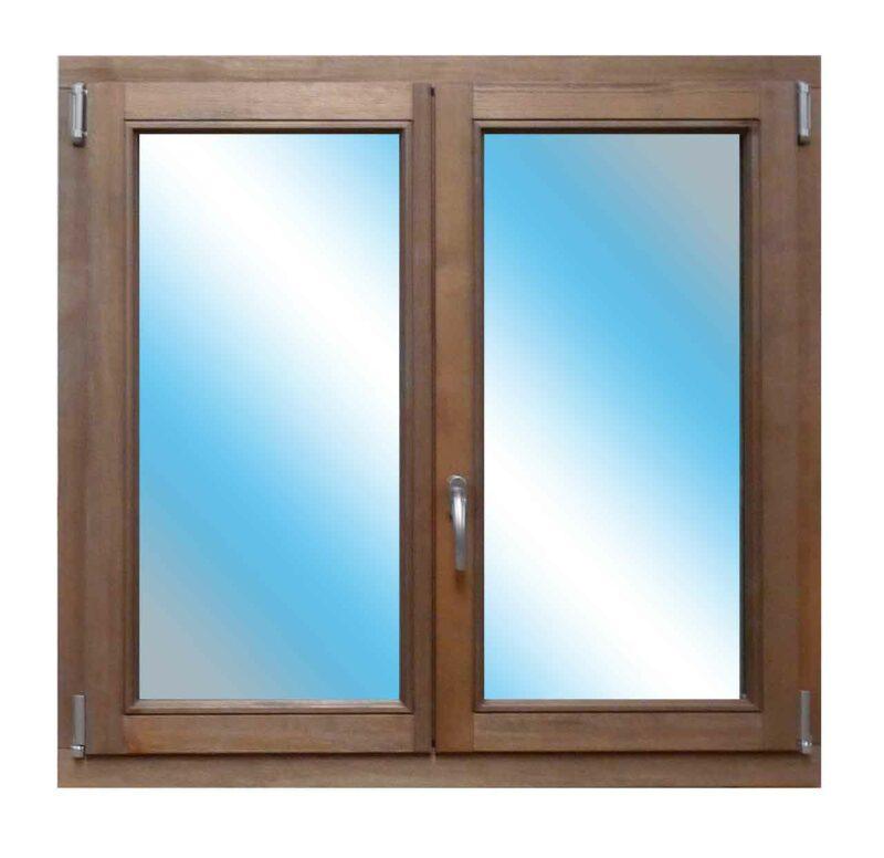 Fenêtre Vieux Bois Brossé 70mm ouverture à la française