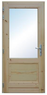 Porte renforcée vitrée en Bois