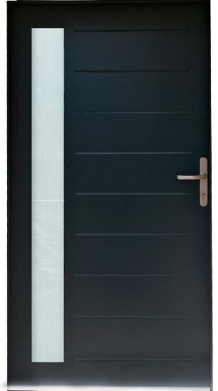 Porte d'entrée en ACIER/PVC - Mundo P43-B
